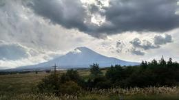 View of Mt. Fuji from the bus. , Robert d - September 2014