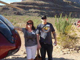 Champagne breakfast in the Grand Canyon to celebrate renewing our wedding vows in Las Vegas!! Narelle and Bruce Sydney Australia , NARELLE P - September 2013