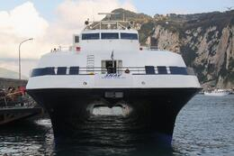 This was our ticket to the capri islands. First a tour bus then this bad boy and then the grotto. after the grotto we ride a bus to the top of the island. You have a quick introduction and walk of... - April 2010