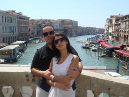 Me and wife on Ponte Rialto. - August 2008