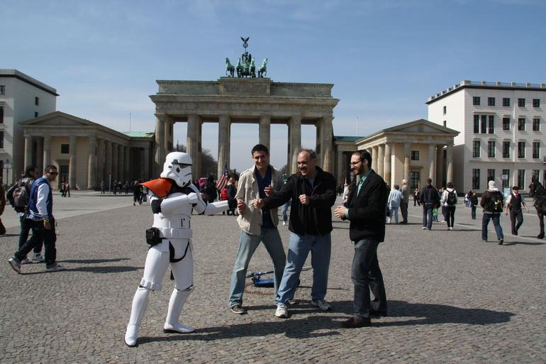 Storm Trooper at the Brandenberg Gate - Berlin
