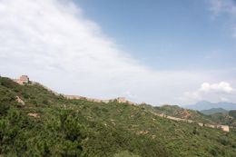Beautiful sunshine at the Great Wall. , Chanindh - August 2015