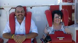 My husband and I riding The Big Shot at the Stratosphere, one of the rides included in your pass! , Nicholas D - June 2011