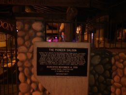 the plaque before entering the saloon, Barbara - December 2014