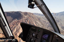 View from helicopter on the way to the Canyon , David M - September 2014