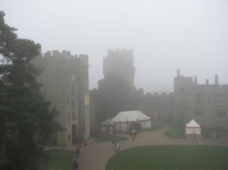 Warwick Castle in fog - London