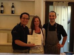 Nicole earns her cooking class certificate!!! , Cindy L - May 2017