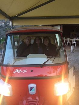 The most fun we could have ever had in a teeny tiny three wheeled car for the teeny tiny streets! , Stacy R - April 2016