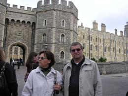Ma mother Lili and father Zeljko in front of the castle, Dunja Z - May 2009