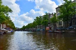 nice canal inside Amsterdam , donghenz - June 2012