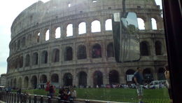 great view of Colloseum from the bus , MARIA L - October 2015