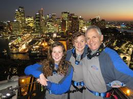 Greg (dad) Zoe and Mac- from central Victoria. Ran across it, sailed under it and climbed over it , Gregory H - September 2014
