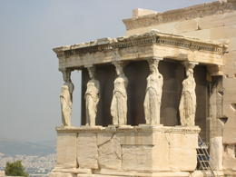 View of the south side of the Erechtheum, showing the famous Porth of Maidens (Caryatids) , tonymichelle922 - June 2011