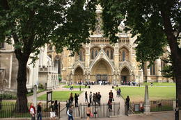 View of Westminster Abbey as we pass by on the Red tour bus. , Carole M - August 2011