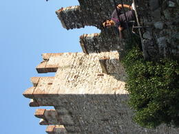 Tower of Lake Garda...Roman Empire supporter...checkout the and quot;M and quot; on top of the tower , Fay C - September 2012