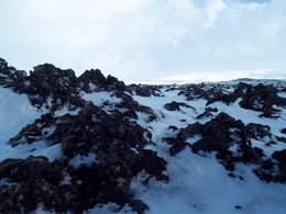 This is a picture of the Lava field we went to for the caving tour. , laughsalot0579 - March 2015