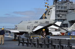 On the flight deck , Cathy T - April 2013