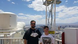 My son and I at the top of the Stratosphere, after riding the Big Shot. The tower view is amazing and ride is very cool! My son and I both loved it! This was part of our Thrill Pass and I highly ... , JesterPSU99 - June 2016