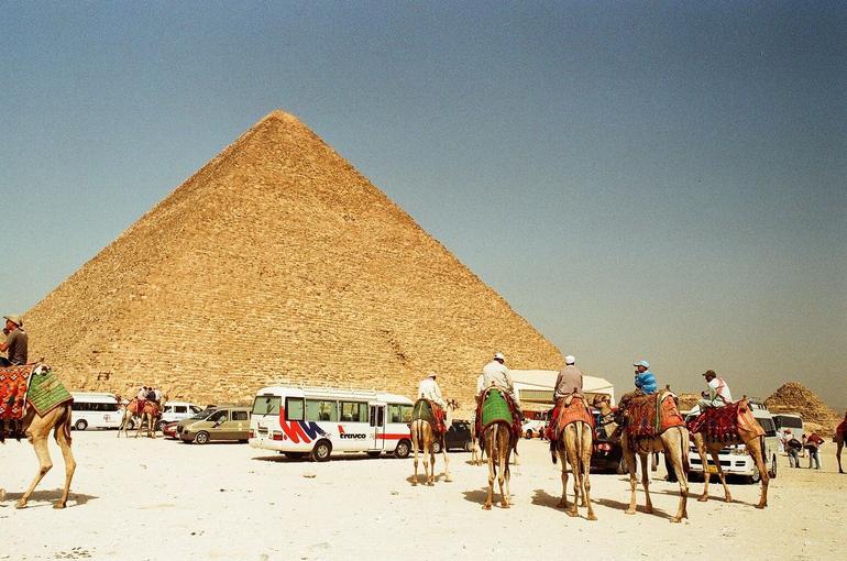 Pyramid & Camels - Cairo