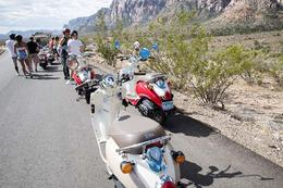 Taking a break during the Red Rock Canyon Scooter Tour, Viator Insider - December 2017