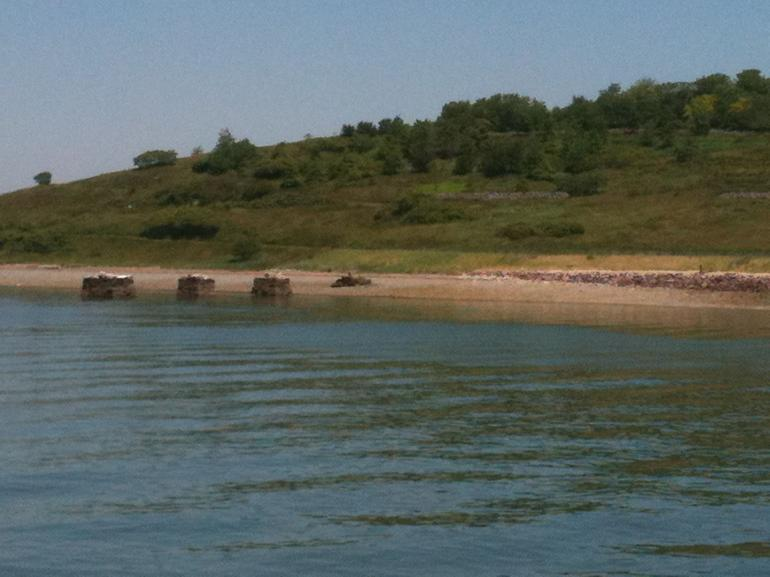 Sandy beach, Spectacle Island - Boston