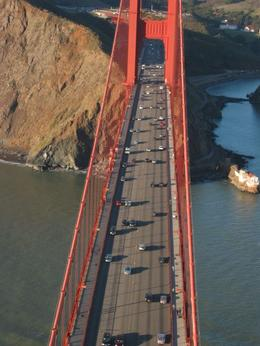 Flying over the Golden Gate Bridge on a sunny day. Very cool!, Global Nomad - February 2008