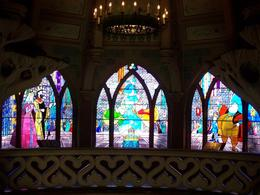 Stained Glass windows inside Sleeping Beauty Castle, William L - January 2010