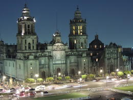 Night shot of the Cathedral in the Zocalo of Mexico City. , Kevin F - May 2013