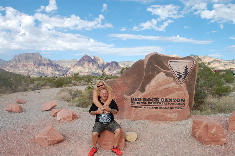Wir im Red-Rock Canyon