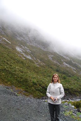 Amy, on a stop close to Milford Sound. , alfred h - February 2017