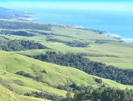 View of ocean from Hearst bus to top of hill. , Jennifer J - March 2017