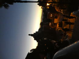 Park Guell at dawn, standing by the fountains. , Courtney R - January 2018