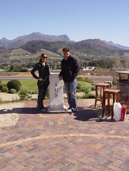 My wife and I at a winery, Brian B - September 2010