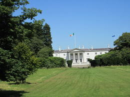 The Irish White House in Phoneix Park. The buses drove so fast a crooked picture was the best I would do. , Michelle K - September 2012