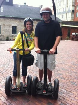 On my husband's bucket list - riding a Segway. I surprised him for our 15th anniversary. This was an AWESOME tour with a fun-loving tour guide who presented interesting, historical information ... , Andrew P - June 2013