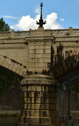 Picture take of the beautiful architecture displayed in these old bridges on the Tiber River. , Cherie B - August 2015