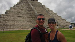 Wife and I at Chichen Itza pyramid. , Zachary P - November 2014