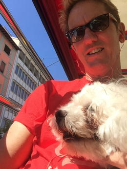 Me and my Dog enjoying the sights of Florence , 121 - August 2016