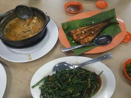 curry fish, grilled fish and morning glory , Liany H - January 2014