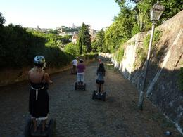 This was a lot easier than we initially thought it would be, the Segways have a maximum speed and it's pretty low for us newbies. - August 2010