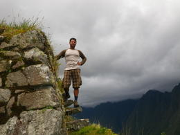 Posing on a ledge., Rodrigo E - December 2011