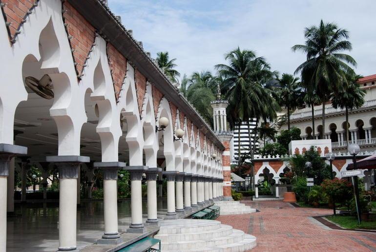 Masjid Jamek mosque courtyard - Kuala Lumpur