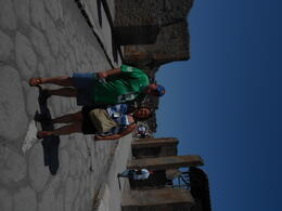 my husband and i on pompeii's main strip , Colleen C - July 2012