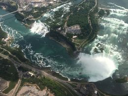 Niagara Falls from helicopter ride: Horseshoe Falls and American Falls , Jean R - July 2015