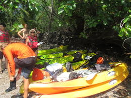 Our guide brought us to a great spot where we parked the Kayaks and snorkeled , Robert W - November 2014