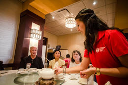 At Kirin, a well-known Chinese restaurant famous for its dumplings - October 2013