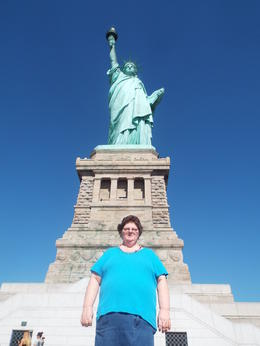 That is me in front of the State Of Liberty , Christy - September 2016