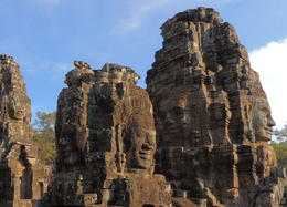 The Bayon is a temple complex at Angkor Wat know for the giant faces that look out from all sides of the many towers. , Kevin F - December 2014