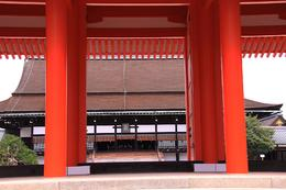 View from the outside courtyard looking into the inner courtyard of the official pavillion where the Emperor sat and conducted ceremonies. - September 2009