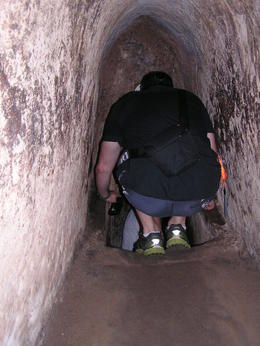 Inside the Chu Chi Tunnels - just to think they have been enlarged to accommodate we large western tourists! , Rohan W - September 2013